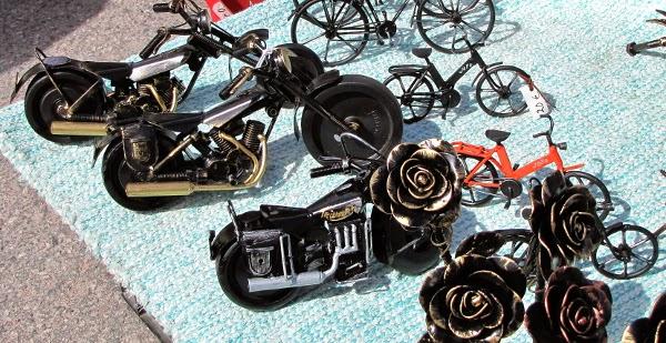 metallic artwork motorbike prätkä moottoripyörä taide