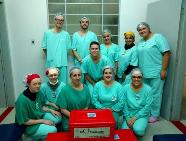Captação de órgãos no Hospital Santa Cruz de Canoinhas