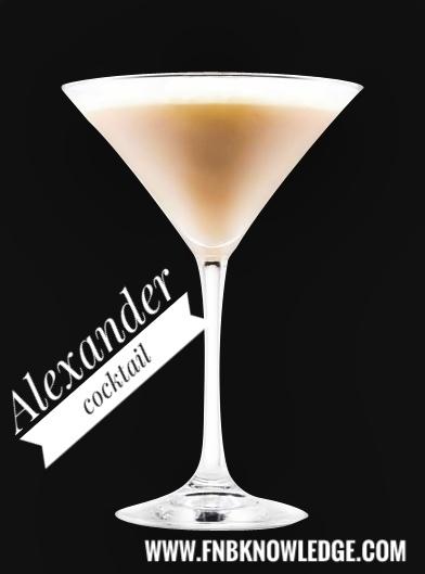 Alexander - cocktail (My bar)