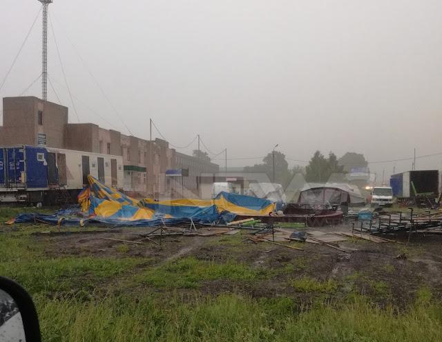 В Башкирии ветром снесло купол цирка