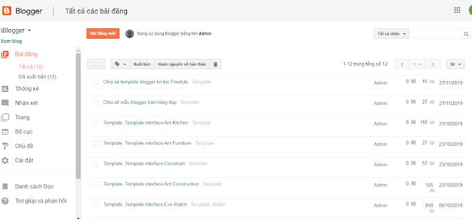 Hướng dẫn viết bài trên blogger