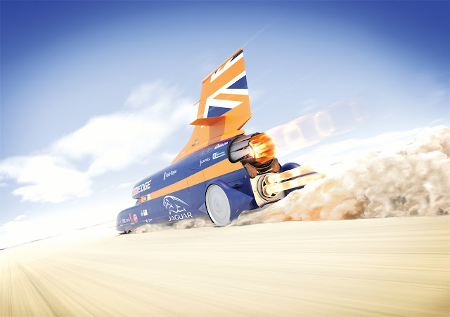 Photo of Bloodhound Supersonic Car (photo: the Bloodhound Project)