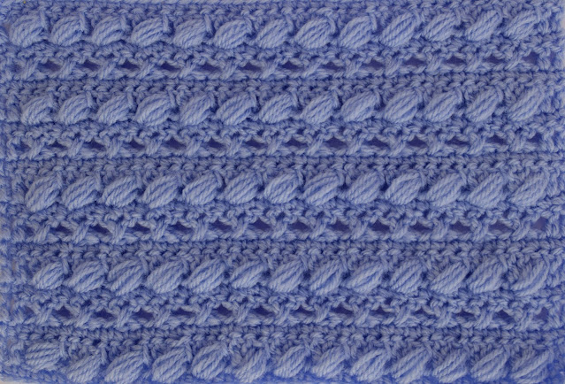 1 - Crochet Imagen Puntada combinada con punto puff especial para bufandas y canesús por Majovel Crochet