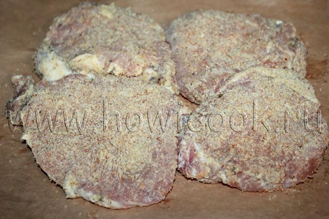 рецепт свиных отбивных в духовке с пошаговыми фото