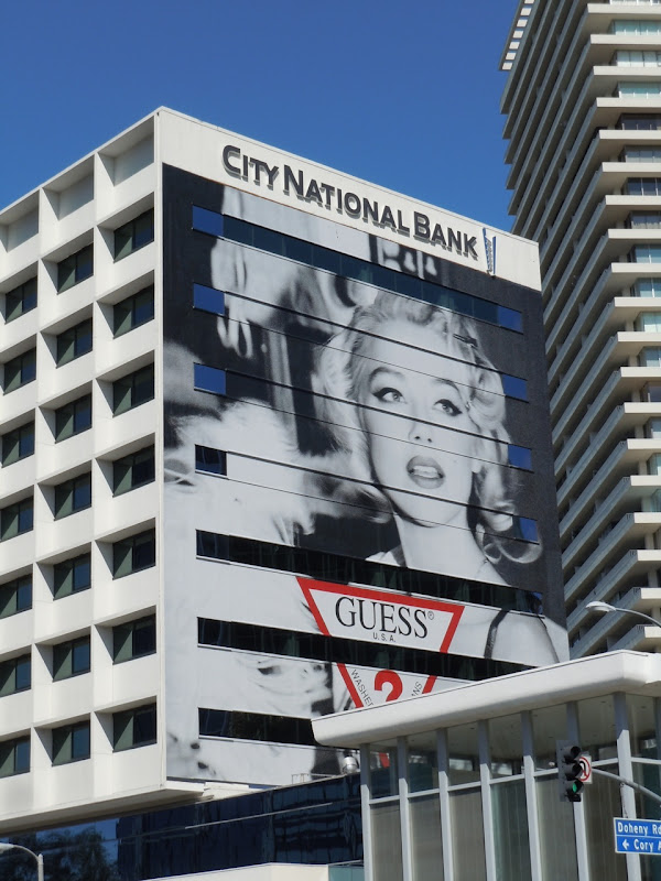 Guess Amber Heard Marilyn Monroe billboard