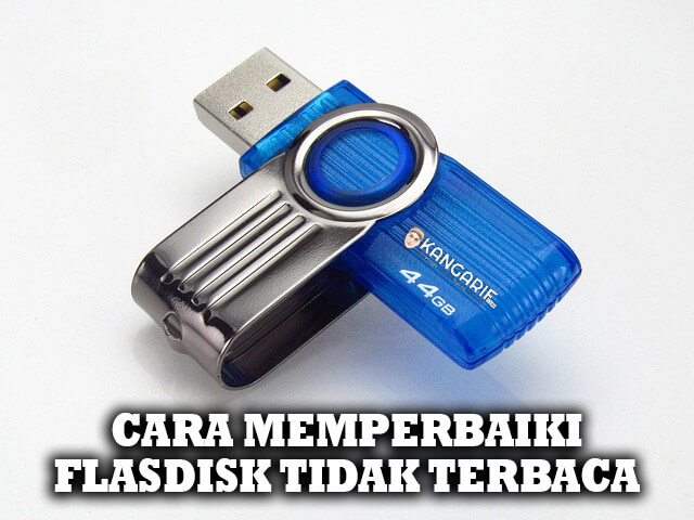 Cara memperbaiki flashdisk yang tidak terbaca di laptop atau PC sangat mudah yaitu dengan memanfaatkan tools bawaan dari Windows.