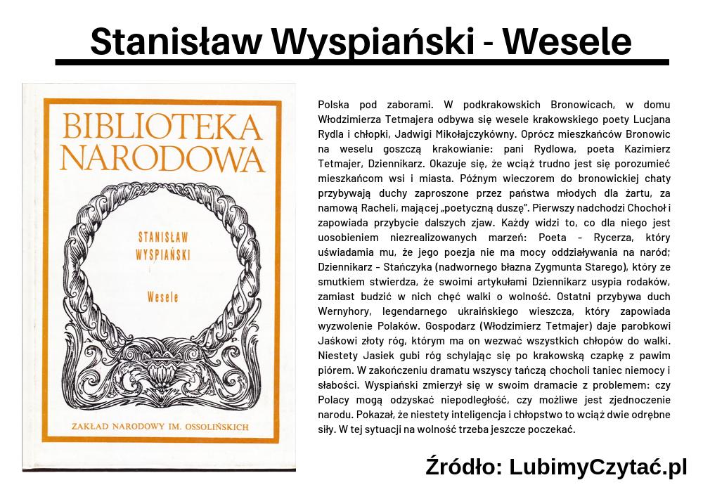 Stanisław Wyspiański - Wesele, Topki, Marzenie Literackie
