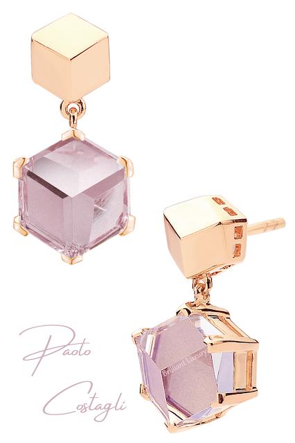 Paolo Costagli 18ct rose gold amethyst earrings #brilliantluxury