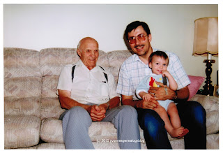 William Demoskoff with his son Michael and grandson Nicholas on Father's Day 1993