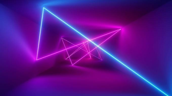 Plano de Fundo Abstrato Laser Neon