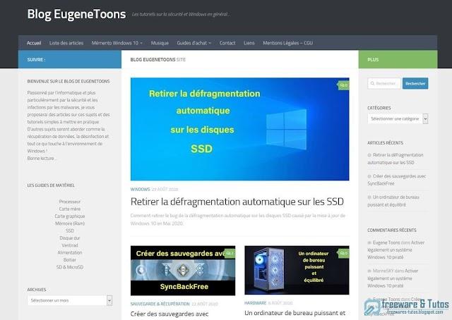 Le site du jour : Le Blog EugeneToons
