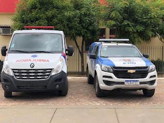 Entrega de ambulância e viatura