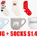 Coffee Mug + Pair of Women's Socks Only $1.49 + Free Shipping!!