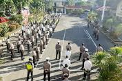 Pimpin Apel Pagi, Kapolres Pangkep Mohon diri pada Anggotanya