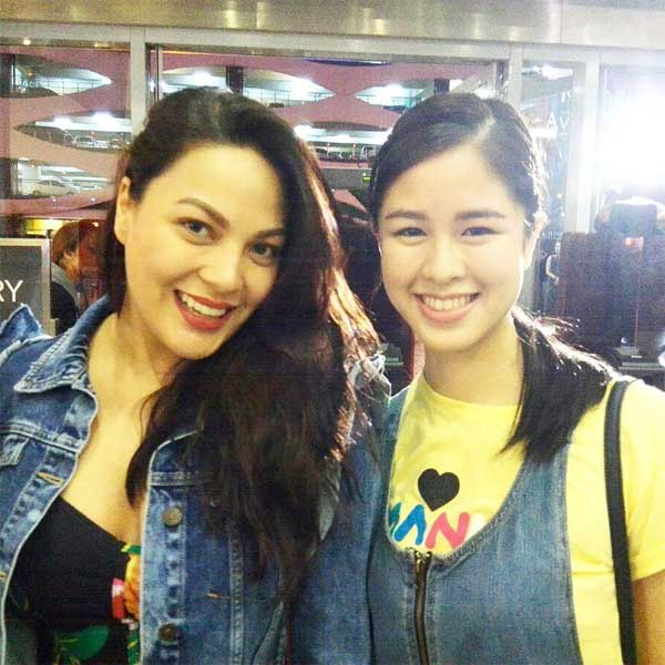 KC Concepcion and Kisses Delavin at Britney Spears Manila concert
