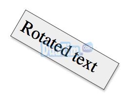 Membuat rotasi teks dengan css