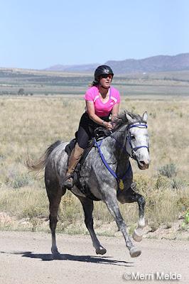 Gwen Hall and Sizedoesntmatter Dakar Endurance Horse