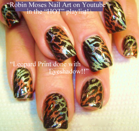 Nail Art by Robin Moses: Soft Tan with Black and Gold Winter