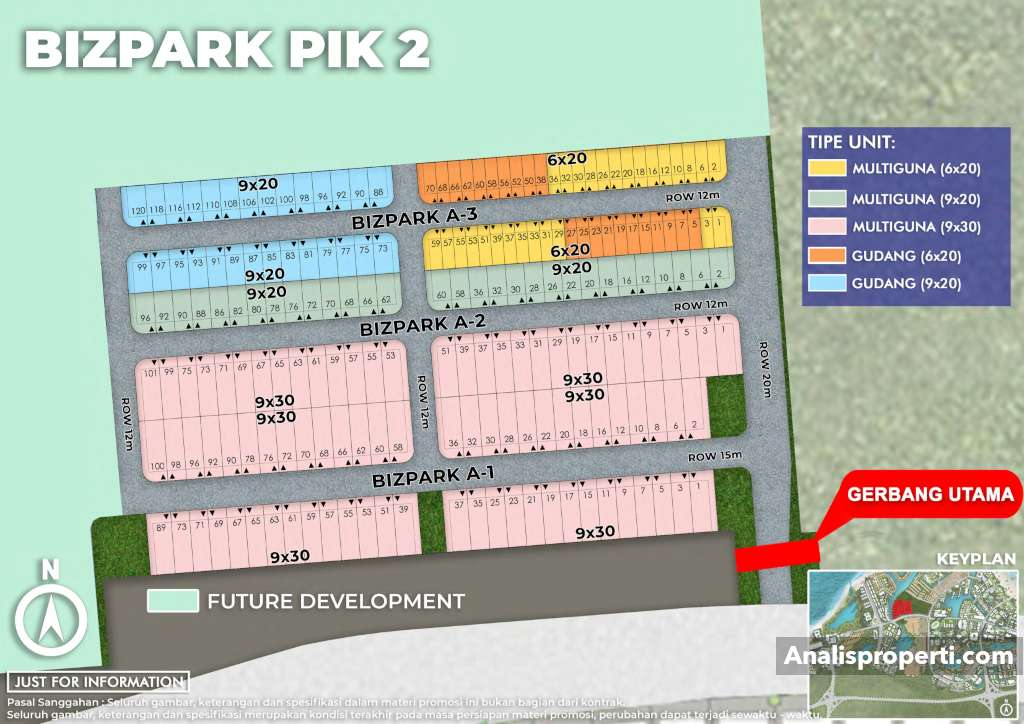 Siteplan Bizpark PIK 2 Jakarta