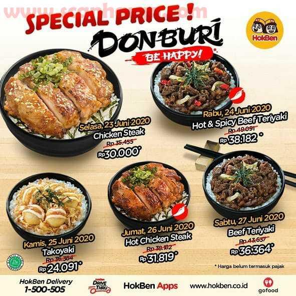 Promo Hokben Special Price Donburi Harga Hanya 38 Ribuan! 2