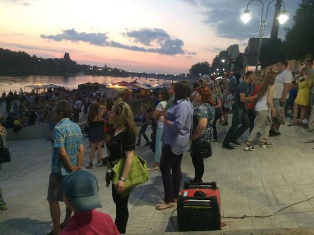 Мероприятия на набережной реки Великая Псков
