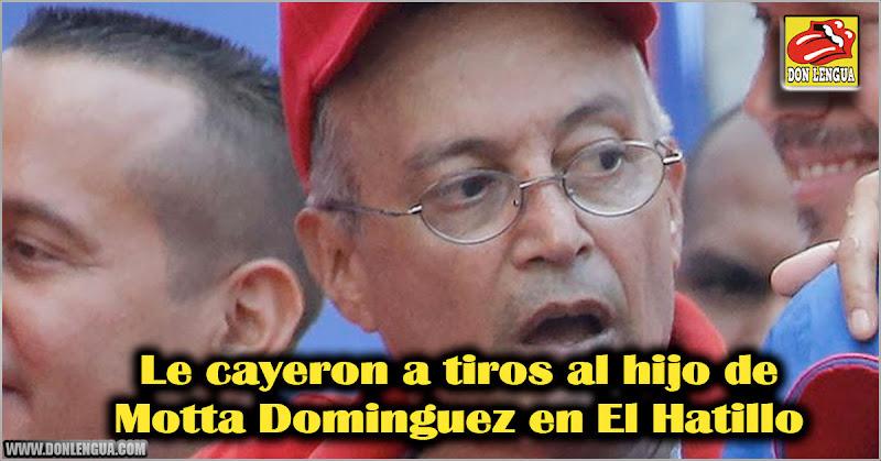 Le cayeron a tiros al hijo de Motta Dominguez en El Hatillo