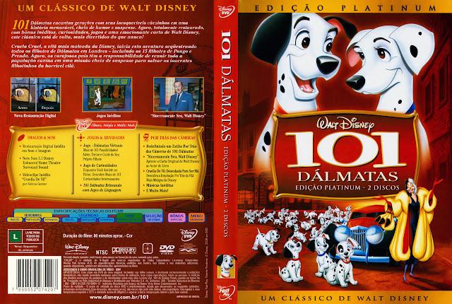 Capa DVD 101 DÁLMATAS (Edição Platinum - 2 Discos)