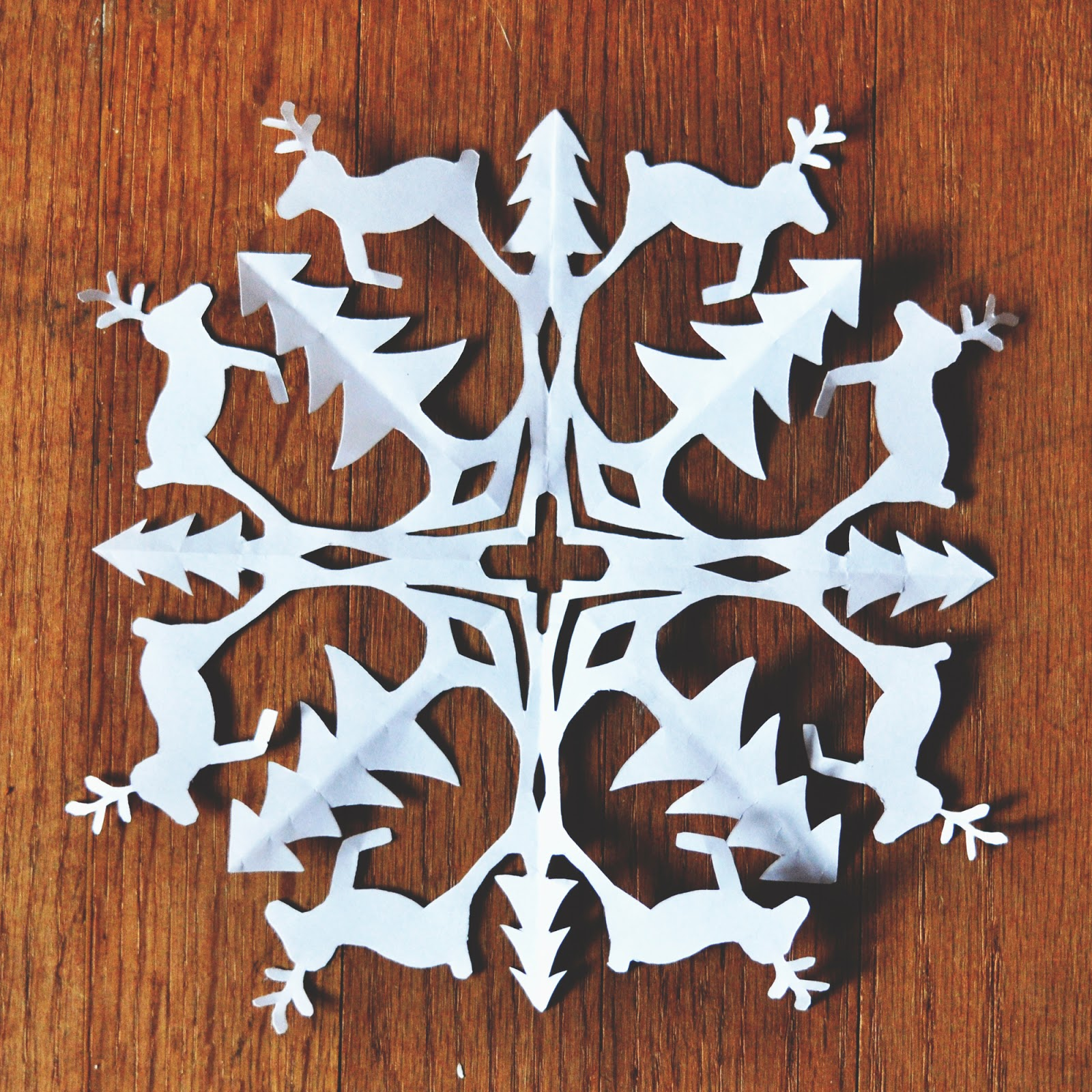 reindeer snowflake template  Zauberbear: Reindeer Snowflake Pattern