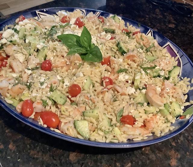 Orzo shrimp pasta salad
