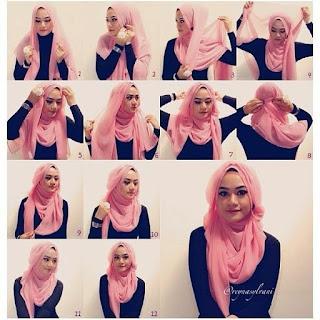 model jilbab pesta untuk ibu ibu