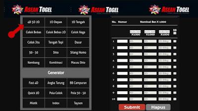 Cara pasang angka di situs resmi asean togel