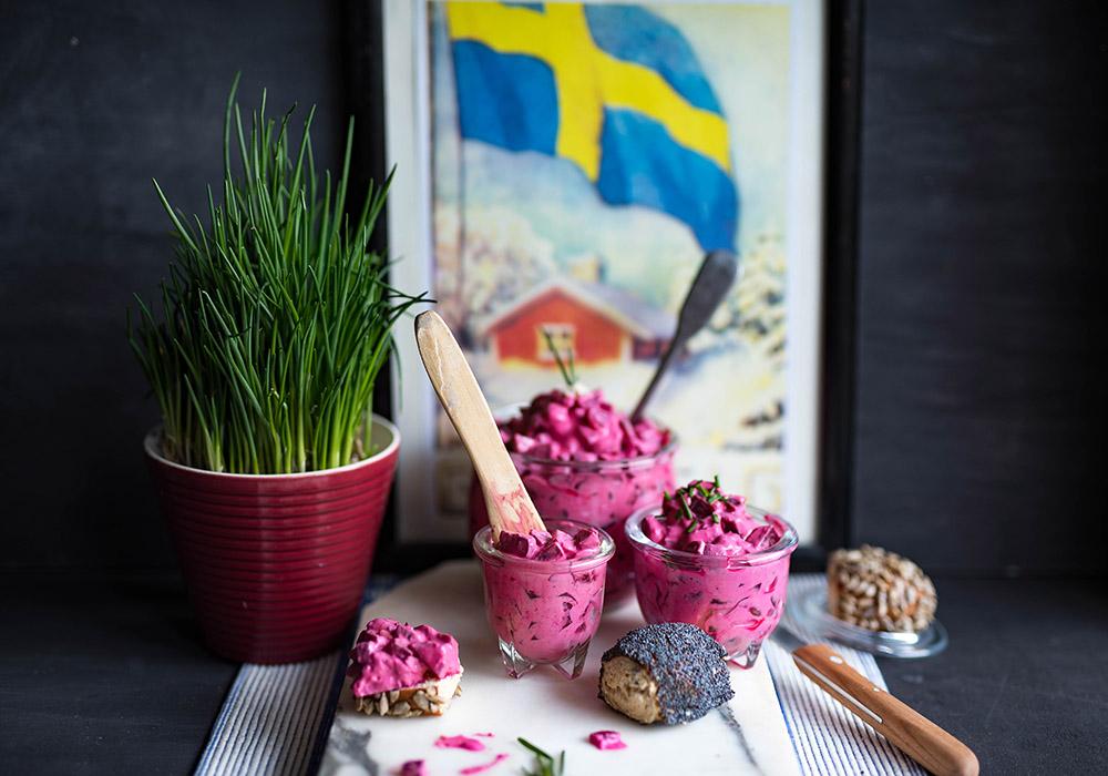 Schwedischer Rote Bete Salat - Rödbetssallad , der schwedische klassiker
