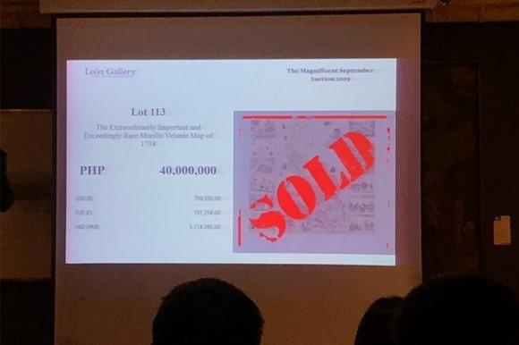 Bản đồ trong vụ Philippines thắng kiện Trung Quốc bán đấu giá được 774.000 USD