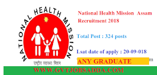 NHM ASSAM 324 POST APPLY ONLINE