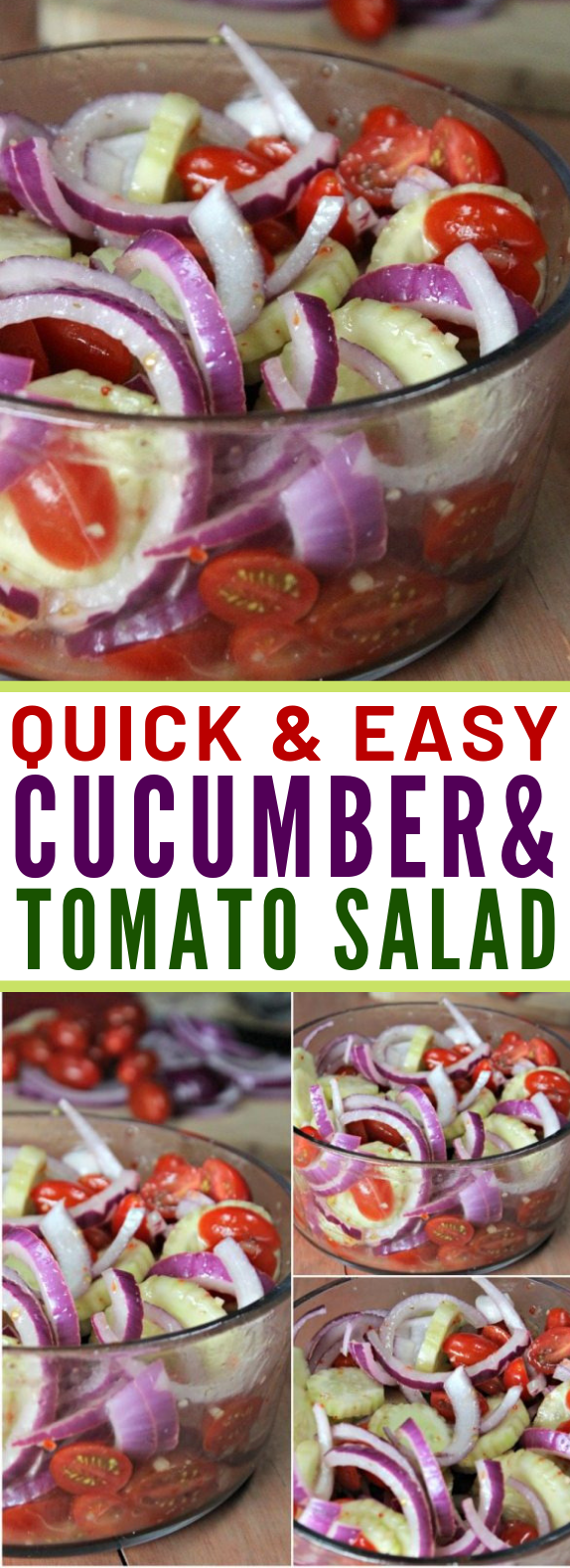 QUICK AND EASY CUCUMBER TOMATO SALAD RECIPE #vegetarian #summerrecipe