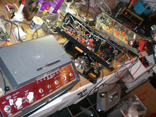 three chassis circuit boards caps resistors layout Echoplex ep3 service red ep4 repair tape echo delay TIS98 Playback