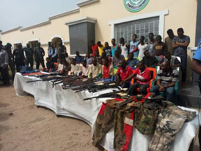 Photos: Police parade 30 deadly kidnappers, armed robbers terrorizing Okene-Lokoja-Kabba road