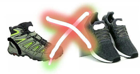 Two heavy or sports shoes