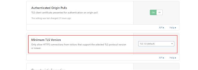 Checking TLS settings