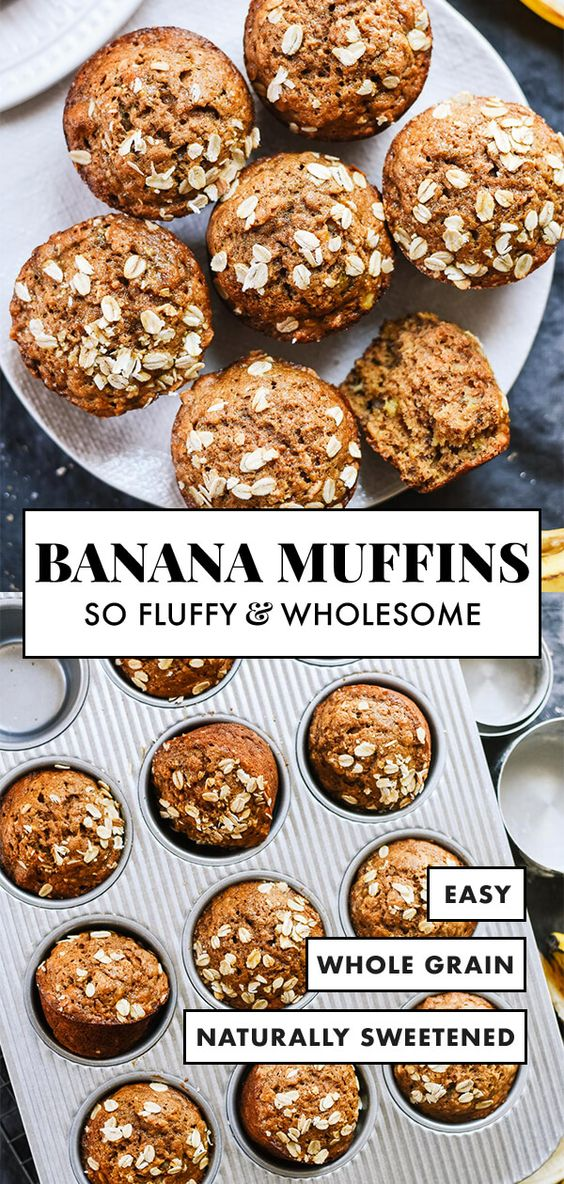 Maple Sweetened Banana Muffins