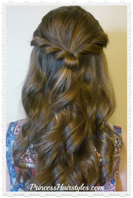 Prom hairstyle tutorial. Half up twist princess hairstyle.