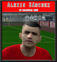 PES 6 Faces Alexis Sánchez by Dewatupai