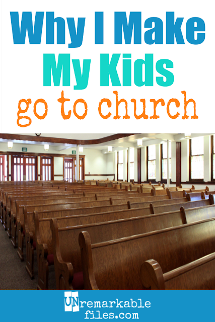 "It would be easier for parents to skip church when they have loud babies, wiggly toddlers, and restless preschoolers. But there's a great reason to have your kids in church and go to church as a family every Sunday, none of which include ""forcing your beliefs"" on your children. #parenting #kids #children #church #worship #christian #christianparenting #lds #unremarkablefiles"
