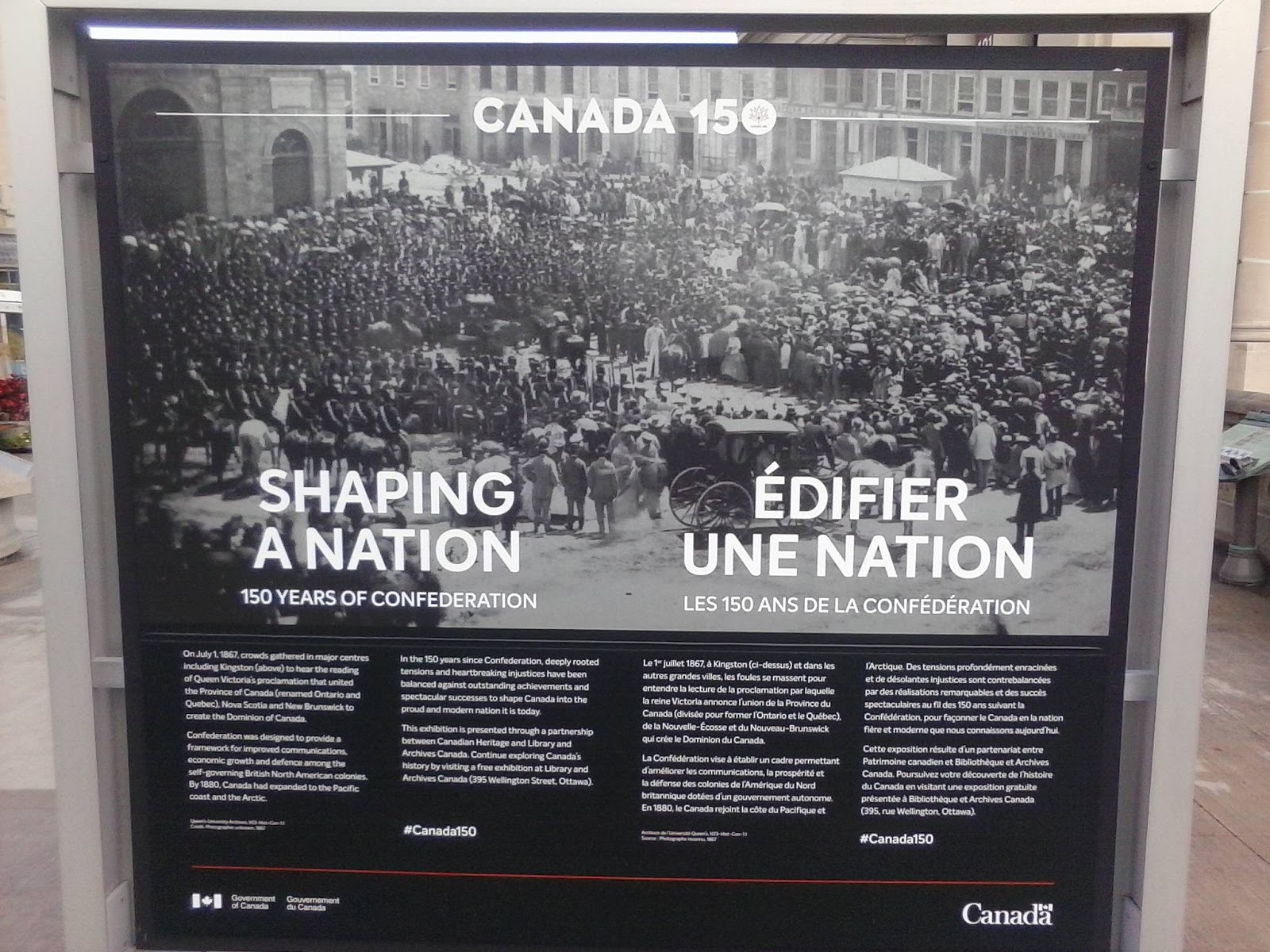 Ottawa Daily Photo: Creating The National History