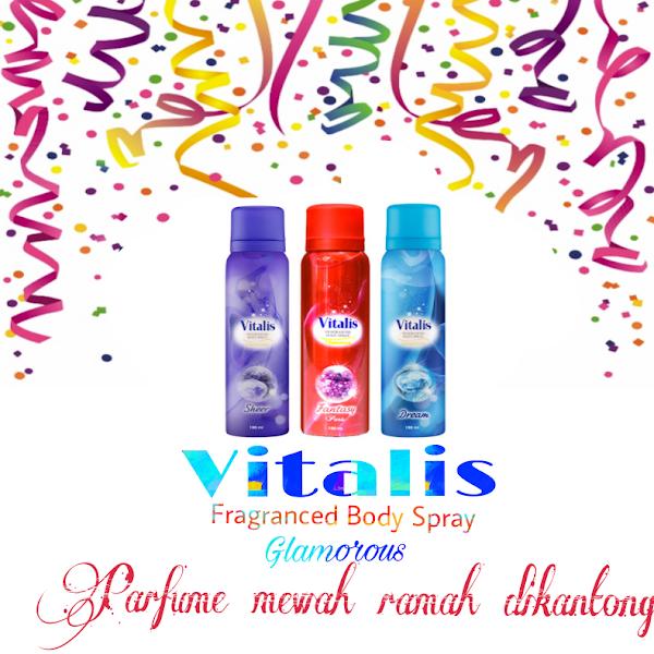 Vitalis Fragranced Body Spray Glamorous Parfume Mewah Ramah Dikantong