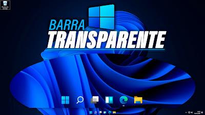 barra transparente windows 11