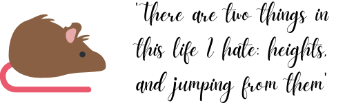 'There are two things in this life, heights and jumping from them'