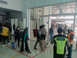 Minimalisir Penyebran Covid 19, Polsek Soeta Perketat Pengawasan Pelabuhan Makassar