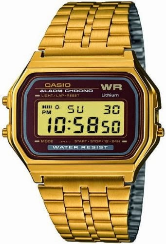 Gold Casio WR 80s Digital Watch