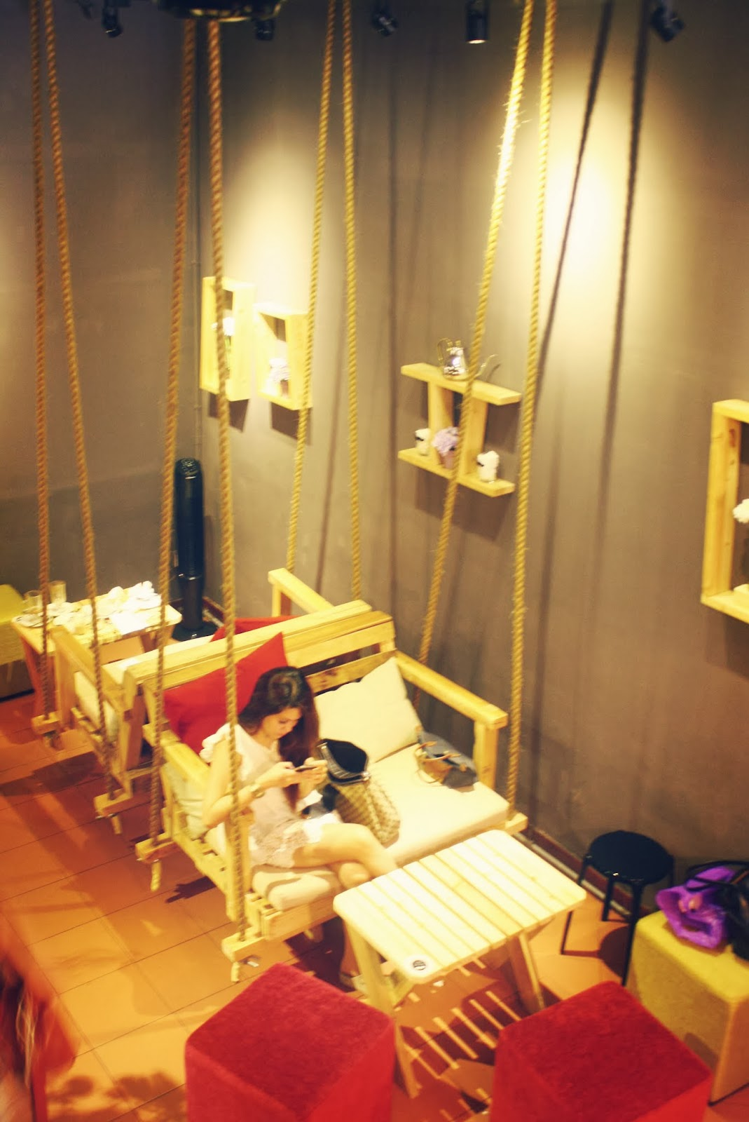 Swing Chair Penang Think Steelcase Moustache Houze Cafe Natalie Wen